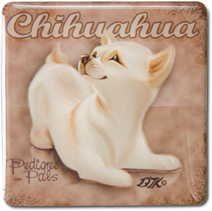 "Chihuahua by My Pedigree Pals - 2.5"" Square Magnet with Easel Back"