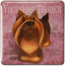 "Yorkie by My Pedigree Pals - 2.5"" Square Magnet with Easel Back"