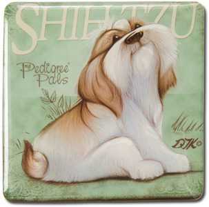 "Shih Tzu by My Pedigree Pals - 2.5"" Square Magnet with Easel Back"