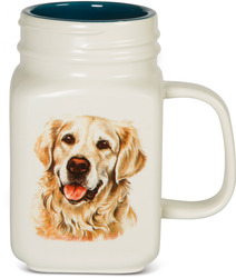 Golden Retriever by Waggy Dogz - 21 oz Mason Jar Ceramic Dog Mug