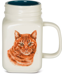 Orange Cat by Waggy Dogz - 21 oz Mug