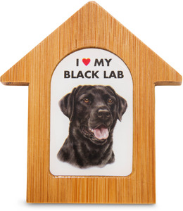 "Black Lab by Waggy Dogz - 3.5"" Self-Standing Magnet"