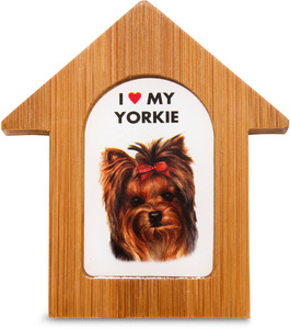 "Yorkshire Terrier by Waggy Dogz - 3.5"" Self-Standing Magnet"