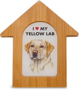 "Yellow Lab by Waggy Dogz - 3.5"" Self-Standing Magnet"