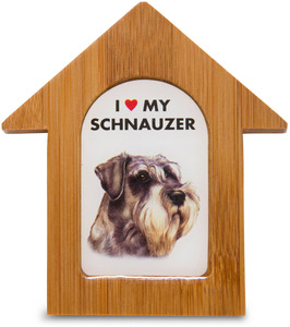 "Schnauzer by Waggy Dogz - 3.5"" Self-Standing Magnet"