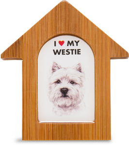 "West Highland Terrier by Waggy Dogz - 3.5"" Self-Standing Magnet"