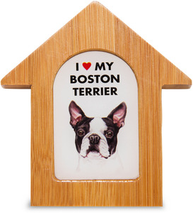 "Boston Terrier by Waggy Dogz - 3.5"" Self-Standing Magnet"
