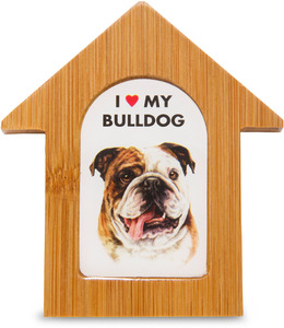 "Bulldog by Waggy Dogz - 3.5"" Self-Standing Magnet"