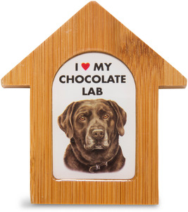 "Chocolate Lab by Waggy Dogz - 3.5"" Self-Standing Magnet"