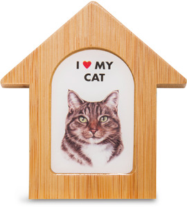 "Tabby Cat by Waggy Dogz - 3.5"" Self-Standing Magnet"