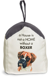 "Boxer by Waggy Dogz - 5"" x 6"" Door Stopper with Charcoal Gray Roof"