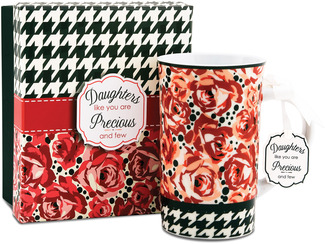 Daughter by You & Me by Jessie Steele - Deco Rose 12oz Mug