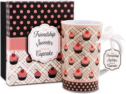 Friend by You & Me by Jessie Steele - Cherry Cupcake 12oz Mug