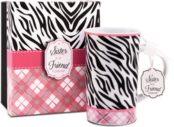 Sister by You & Me by Jessie Steele - Pretty in Plaid 12oz Mug