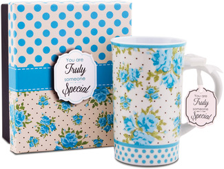 Someone Special by You & Me by Jessie Steele - Aqua Spring Rose 12oz Mug