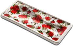 "Red Cottage Rose by You & Me by Jessie Steele - 3.75"" x 8.5"" Spoon Rest"