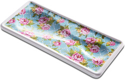 "Cottage Kitchen Rose by You & Me by Jessie Steele - 3.75"" x 8.5"" Spoon Rest"