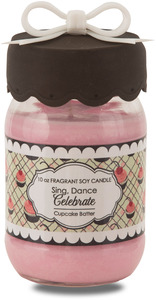 Celebrate by You & Me by Jessie Steele - 10 oz Soy Jar Candle Cupcake Batter Scent