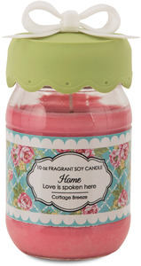 Home by You & Me by Jessie Steele - 10 oz Soy Jar Candle Cottage Breeze Scent