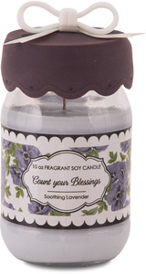 Blessings by You & Me by Jessie Steele - 10 oz Soy Jar Candle Lavender Scent