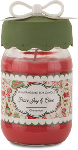 Peace, Joy & Love by You & Me by Jessie Steele - 10 oz Soy Candle Cinnamon Scent