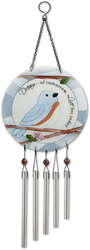 "Dream by Peace Love & Birds - 8"" Glass Windchime"