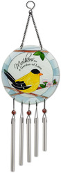 "Mother by Peace Love & Birds - 8"" Glass Windchime"