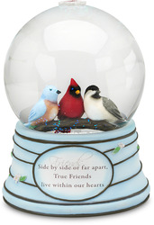 Friends by Peace Love & Birds - 100mm Musical Water Globe