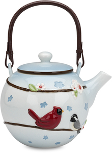 "Tranquility by Peace Love & Birds - 6.25"" Tea Pot"