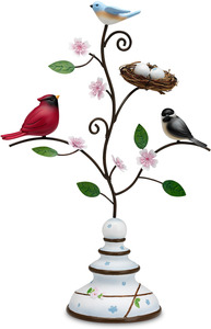"Nature's Beauty by Peace Love & Birds - 13.5"" Bird Finial"