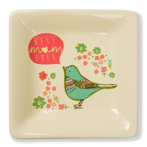 "Best Mom Ever by A Mother's Love by AmyL - 4.5"" Ceramic Keepsake Dish"