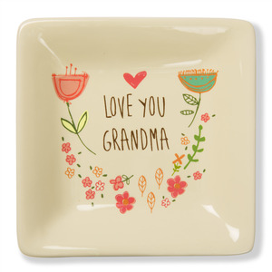 "Love You Grandma by A Mother's Love by AmyL - 4.5"" Ceramic Keepsake Dish"