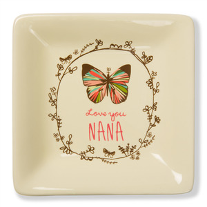 "Love You Nana by A Mother's Love by AmyL - 4.5"" Ceramic Keepsake Dish"