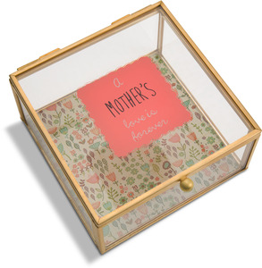 "Mother by A Mother's Love by AmyL - 4.25"" x 4.25"" Glass Keepsake Box"