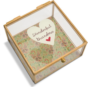 "Grandma by A Mother's Love by AmyL - 4.25"" x 4.25"" Glass Keepsake Box"