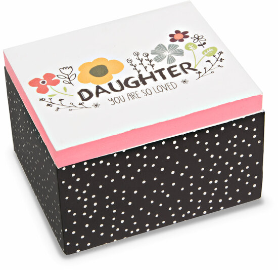 Daughter by Love You More - Daughter - 2.25 x 2 x 1.5 MDF Trinket  Box