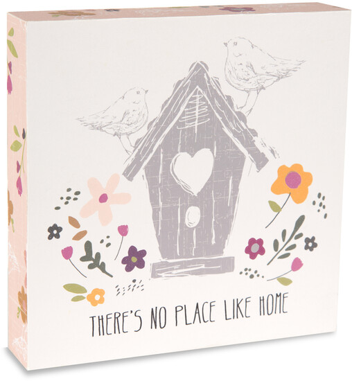 "Home by Bless My Bloomers - Home - 5"" x 5"" Plaque"