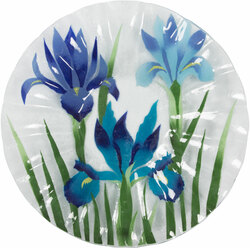 "Iris Sky by Fusion Art Glass - 14"" Ribbed Bowl"