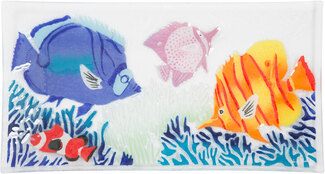 "Marine Life by Fusion Art Glass - 15""x8"" Serving Tray"