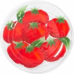 "Vegetable Medley by Fusion Art Glass - 11"" Round Plate"