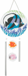 "Marine Life by Fusion Art Glass - 8"" Wind Chimes"