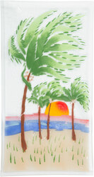 "Palm Trees by Fusion Art Glass - 15"" x 8"" Serving Tray"