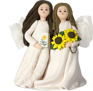 "Special Friends by Kneeded Angels - 5"" Angels w/Sunflowers"
