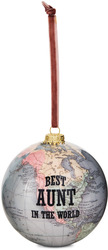 Aunt by Global Love - 100mm Earth Ornament