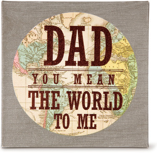 "Dad by Global Love - 5"" x 5"" Canvas Plaque"