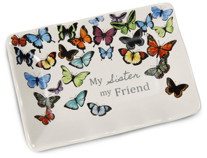 "Sister by Sherry Cook Studio - 5"" x 3.5"" Keepsake Dish"