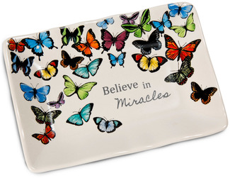 "Miracles by Sherry Cook Studio - 5"" x 3.5"" Butterfly Keepsake Dish"
