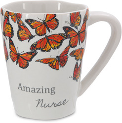 Nurse by Sherry Cook Studio - 12 oz Monarch Butterfly Mug