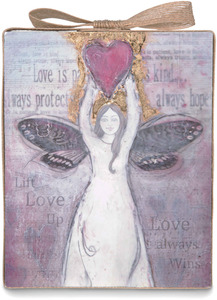 "Love by Sherry Cook Studio - 6.75"" Angel Sheet Music Plaque"