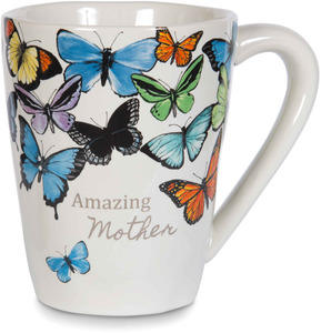 Mother by Sherry Cook Studio - 12 oz Painted Butterfly Mug